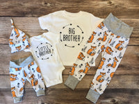Sly Fox Sibling Outfit Set, Little Brother Big Brother, Southwest , Fox - Josie and James