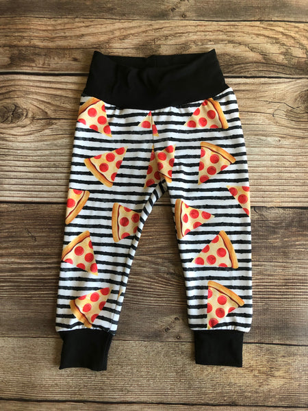 Pizza Slice Toddler Pants, pepperoni, Pizza Stripe, Joggers, Leggings - Josie and James