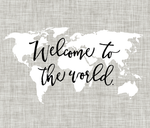 Welcome to the World Typography Blanket, Flat Lay blanket, milestone blanket - Josie and James