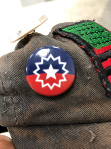 "1"" inch Juneteenth Flag Pin"