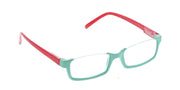Turquoise - Red / Clear