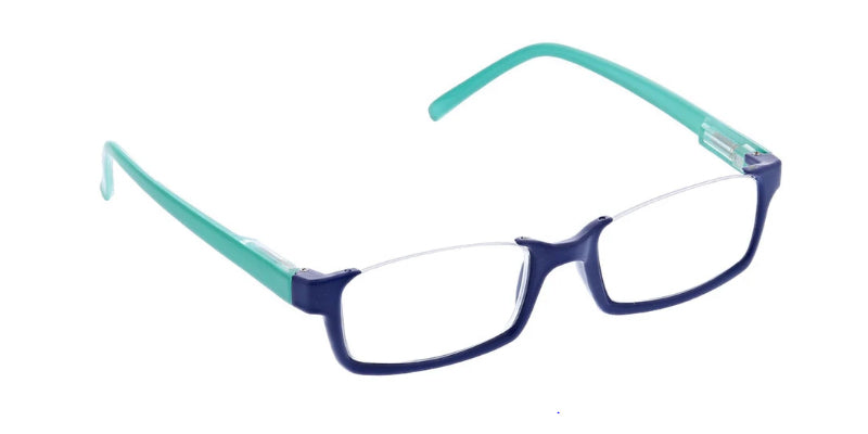 Navy - Turquoise / Clear