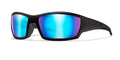 Gloss Black / Polarized Blue Mirror