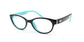 46 - Shiny Black Teal / Anti-Glare / Single-Vision - Blue Light Filter