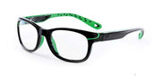 50 - Shiny Black Green / Single-Vision / Anti-Glare - Blue Light Filter