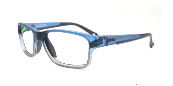51 - Frosted Blue Grey / Single-Vision / Anti-Glare - Clear