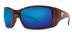 [Tortoise Frame / Blue Mirror Glass - W580]