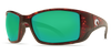 [Tortoise Frame / Green Mirror Glass - W580]