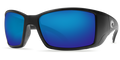 Matte Black Frame / Blue Mirror Glass - W580