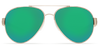 [Rose Gold w/Light Tortoise Temples Frame / Green Mirror 580P]