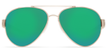 Rose Gold w/Light Tortoise Temples Frame / Green Mirror 580P