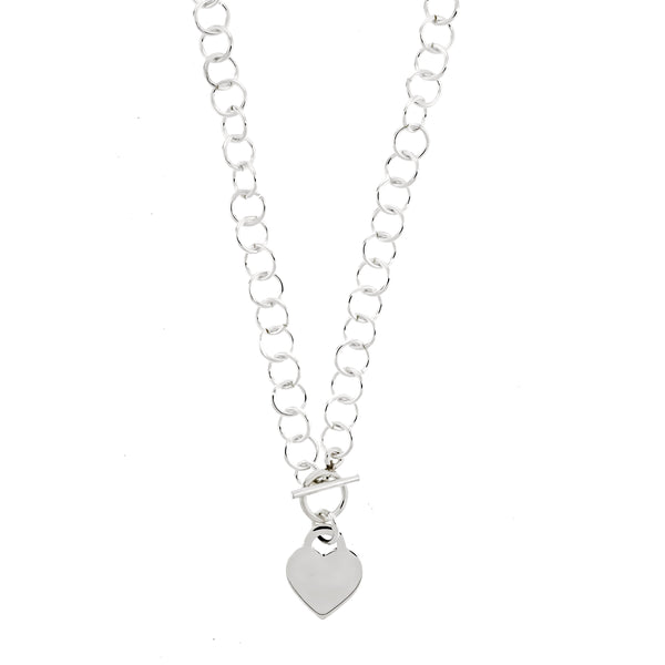Heart Toggle Link Necklace