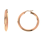 Rose Gold Edge Large Hoops