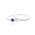 Howlite and Sugilite Bangle