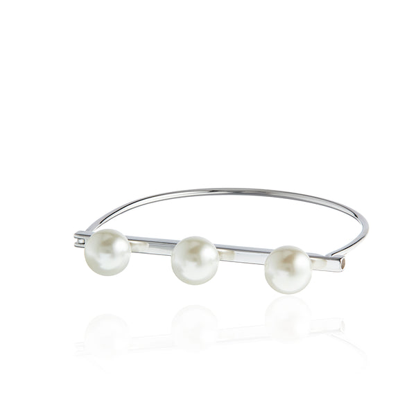 Three Pearl Bangle