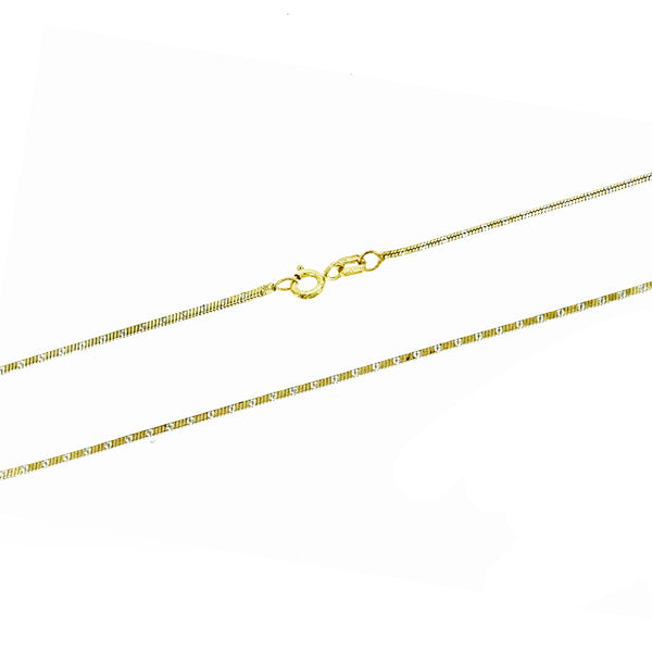Gold Vermeil Two Tone DC Snake Chain