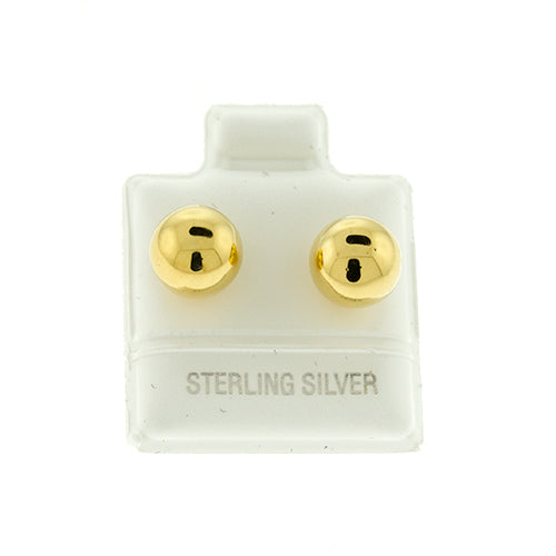 Gold Vermeil Ball Studs