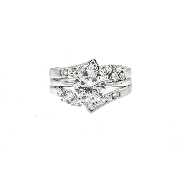 CZ Round Wedding Set