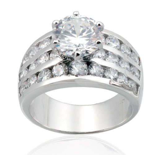 10mm CZ Wedding Ring