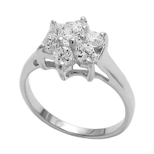 Baby CZ Flower Ring