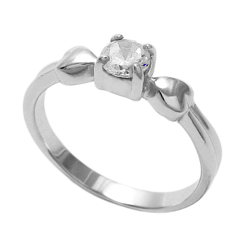 Baby CZ Heart Ring