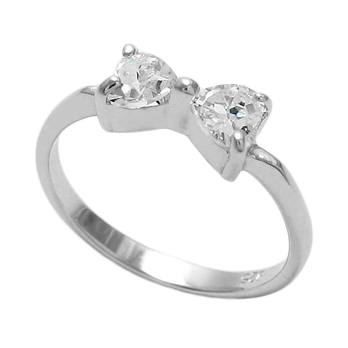 Baby CZ Bow Ring