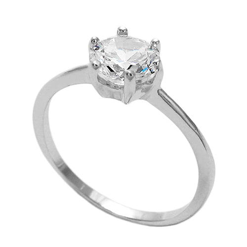Baby Single CZ Stone Ring