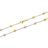 Tricolor Oval Moon Bead Chain