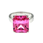 Pink Ice Rectangle CZ Ring