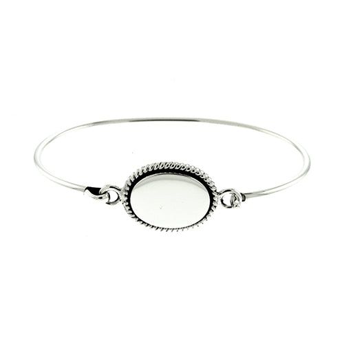 Oval Rope Bangle