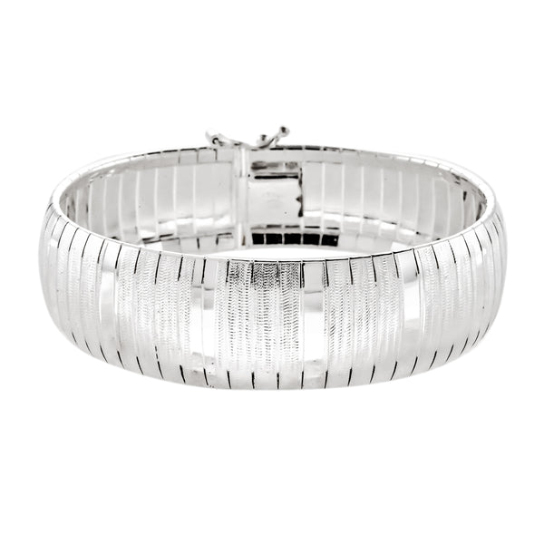 Wide Lined Flex Bangle