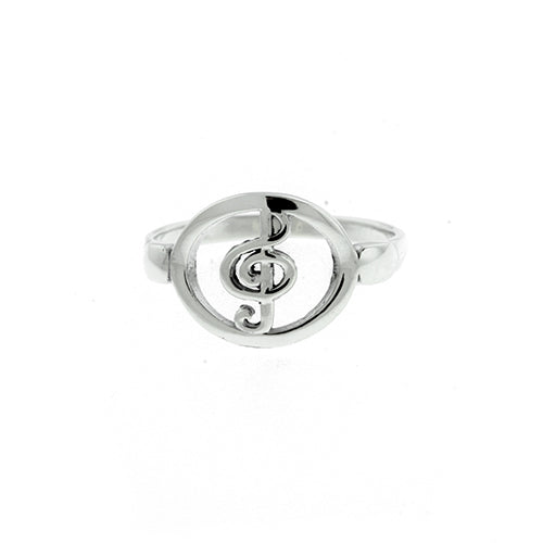 Treble Clef Music Ring