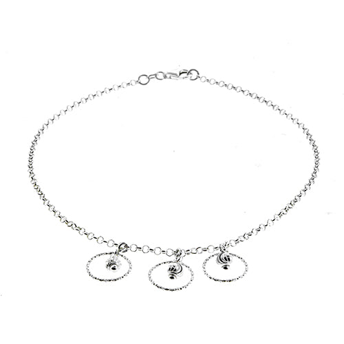 Dangling Three Circle Anklet