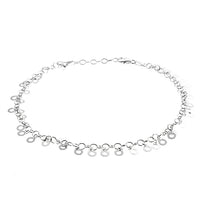 Open Circle Dangling Anklet
