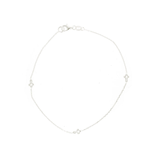 Cross Link Anklet