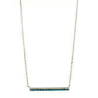 Blue Nano Turquoise Bar Necklace