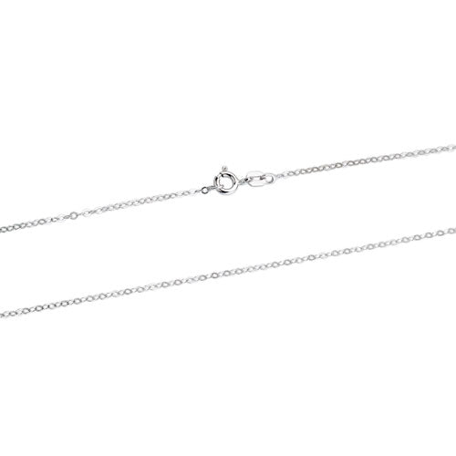 Rhodium 0.8mm Baby Rolo Chain