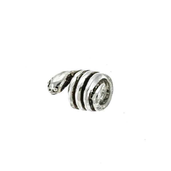 Antique Spiral Snake Bead Charm