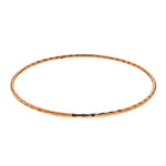Rose Gold Diamond Cut Bangle