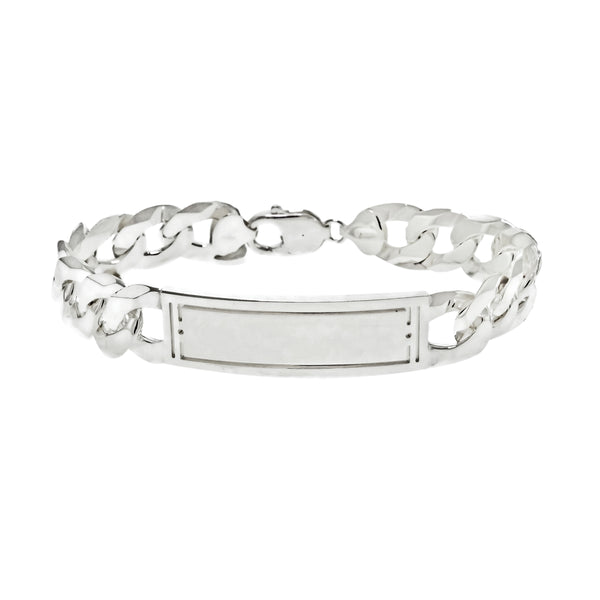 Men's Satin Curb ID Bracelet