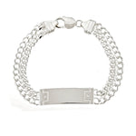 Two Line Curb ID Bracelet
