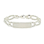 Men's Satin Figaro ID Bracelet