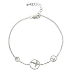CZ Circle Cross Bracelet