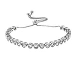 4mm Round CZ Adjustable Bracelet