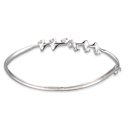 CZ Leaf Bangle
