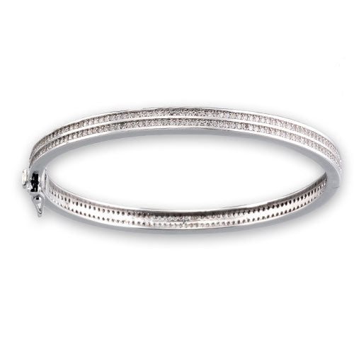 Micro Pave Two Tier Bangle