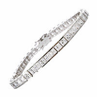 5mm Princess Cut CZ Bracelet