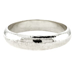 15mm Hammered Concave Bangle