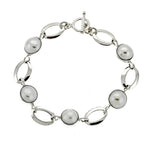 Pearl and Oval Link Bracelet