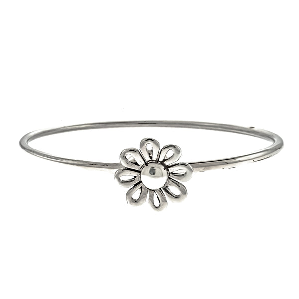 Round Flower Latch Bangle
